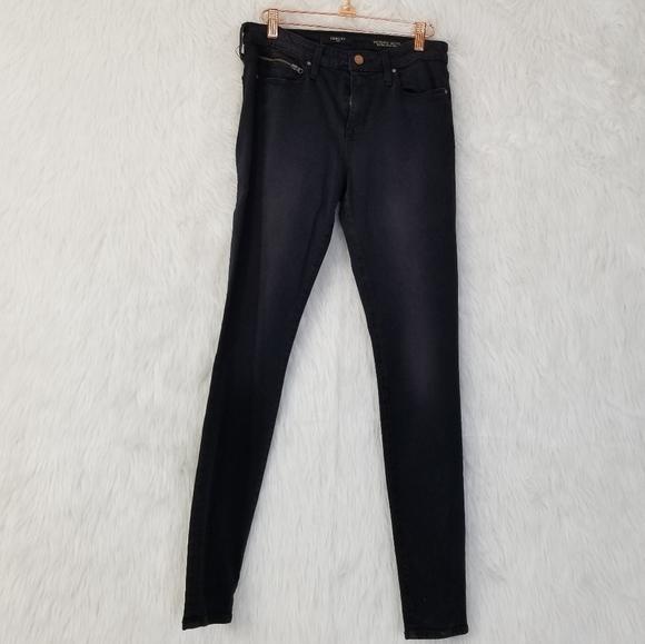 Fidelity Denim Victoria Moto Ankle Slim Jeans